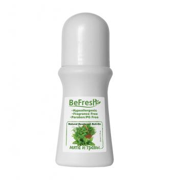 Дезодорант роликовый мужской с экстрактом мяты и трав Organic Roll-On For Body BeFresh 50 мл