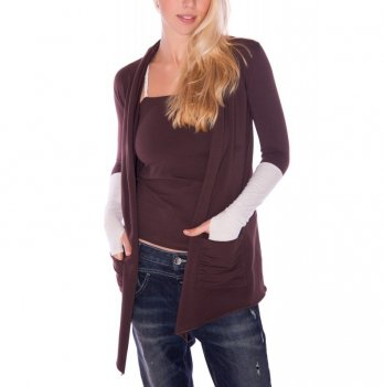 Кофта - кардиган Zen Wear Бордо коричнево-бежевый