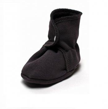 Пинетки ботиночки утепленные для новорожденного обувь Модный карапуз, серые 03-00775