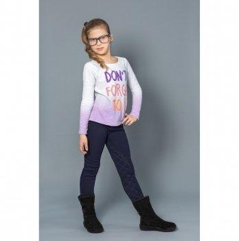 Теплые брюки-скинни для девочек Модный карапуз, синие