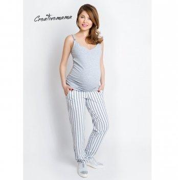 Топ для беременных и кормящих мам Creative Mama, Basic Grey