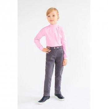 Теплые брюки-скинни для девочек Модный карапуз, серые