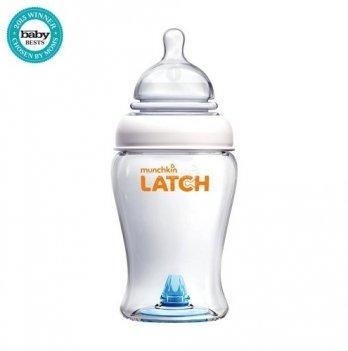 Бутылочка пластиковая Munchkin Latch, с силиконовой соской, 240 мл, 0+