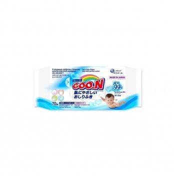 Влажные салфетки для чувствительной кожи увеличенные GOO.N 733570 70 шт