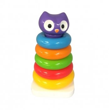 Развивающая игрушка - Пирамидка Сова, Kiddeland