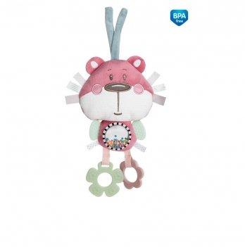 Игрушка мягкая с подвеской для коляски/кроватки Canpol babies Pastel Friends Розовый 68/065