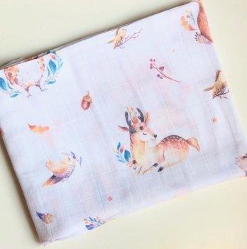 Муслиновая пеленка Embrace Животные лесные 100х80 см