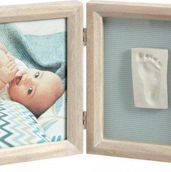 Фоторамка с набором для создания отпечатков Baby Art двойная, винтаж