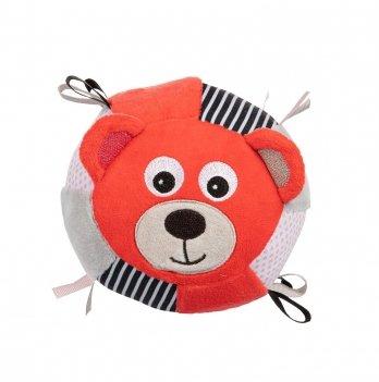 Игрушка-мячик с колокольчиком Canpol babies BEARS Коралловый 68/074