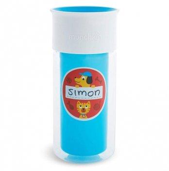Чашка непроливная Munchkin Miracle 360 Insulated Sticker Голубой 17407.01 266 мл