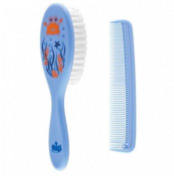 Гребешок и щетка для волос, NIP, голубой