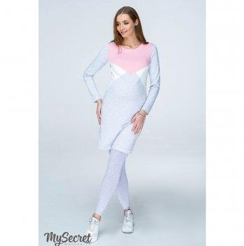 Трикотажные лосины для беременных  MySecret Kaily new 12.39.01 серый меланж