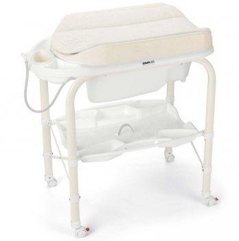 Пеленальный столик CAM Cambio Solo Per Te, с ванночкой, бежевый