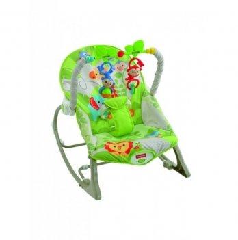 Массажное кресло-качалка Fisher- Price Веселые обезьянки