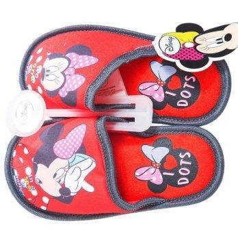 Тапочки-шлепанцы Disney Минни Маус красные