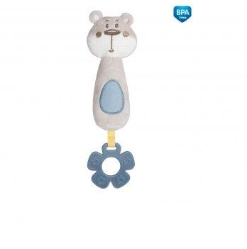 Игрушка плюшевая с прорезывателем и пищалкой Canpol babies Pastel Friends Серый 68/068