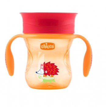 Чашка-непроливайка Chicco Perfect Cup 12+ Оранжевый 06951.30.50 200 мл
