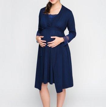 Комплект для беременных и кормящих Creative Mama халат + ночная рубашка Royal Размер S