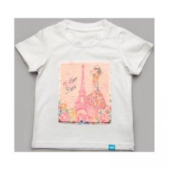 Футболка для девочки Модный карапуз ТМ I love Paris LikeMe 111-00022