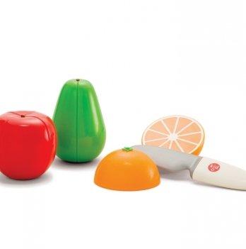 Игровой набор магнитный Kid O, Фрукты (3 фрукта и нож)