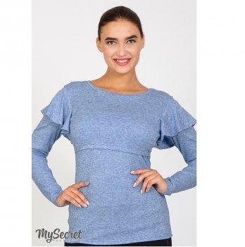 Джемпер для беременных и кормящих MySecret Dora BL-47.092 голубой меланж