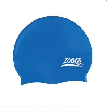 Шапочка для плавания Zoggs Silicone Cap, синяя