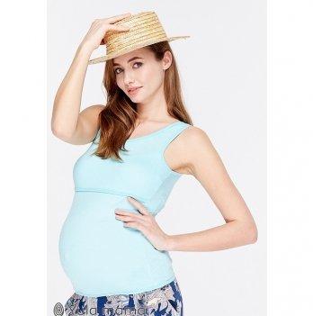 Майка трикотажная для беременных и кормящих мам MySecret Liza new NR-29.102 аквамарин