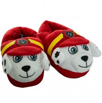 Тапочки-игрушки Disney Щенячий патруль (PAW Patrol), красные