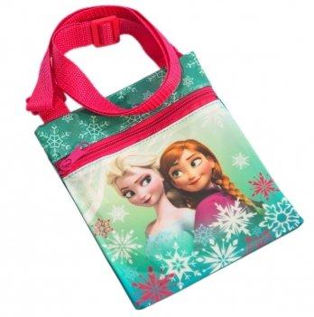 Мини-сумка Disney Холодное сердце (Frozen) зеленая с розовым