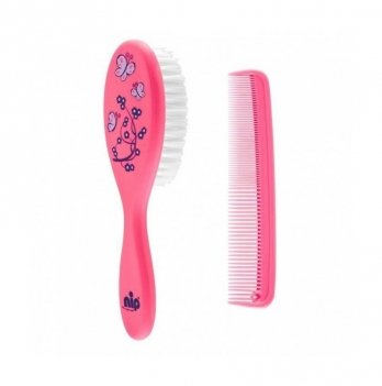 Гребешок и щетка для волос, NIP, розовый