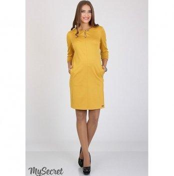 Платье-карандаш для беременных MySecret Key DR-36.043 горчица