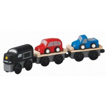 Деревянная машинка PlanToys® Поезд-автовоз