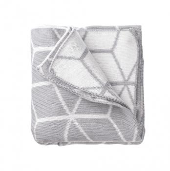 Хлопковый плед Blankee Cube Silver