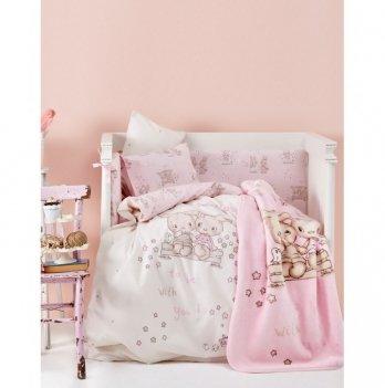 Детский плед в кроватку Karaca Home - Bunny Friends 2017-1 100*120