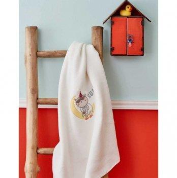 Детский плед в кроватку Dreamer Beyaz 2018-2 Karaca Home 100х120 см