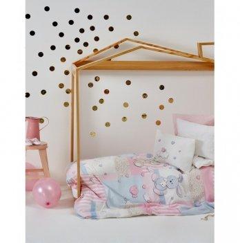 Детский плед в кроватку Karaca Home - Honey Bunny pink 2017-1 100*120