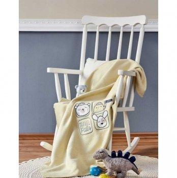 Детский плед в кроватку Sweet Summer yesil 2018-2 Karaca Home 100х120 см