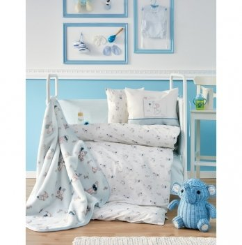 Детский плед в кроватку Woof 2018-1 Karaca Home 100х120 см