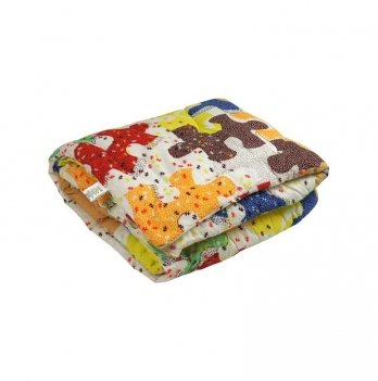 Одеяло детское силиконовое Руно Пазлы 140х105 см