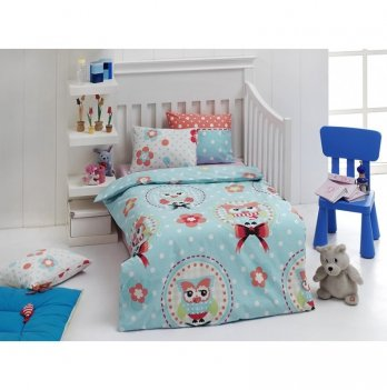Комплект детского постельного белья Eponj Home Baykus Mavi