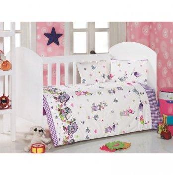 Комплект детского постельного белья Eponj Home Kuslar Lila
