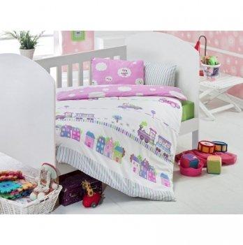Комплект детского постельного белья Eponj Home Tren Pembe