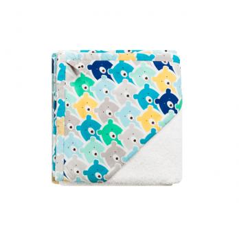 Детское полотенце уголок Cotton Living Funny Bears Blue