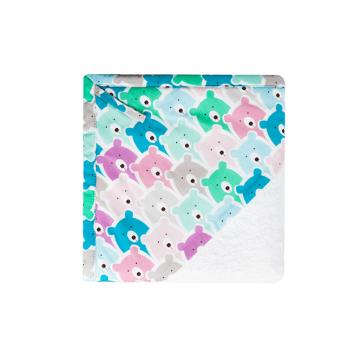 Детское полотенце уголок Cotton Living Funny Bears Pink