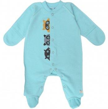 Человечек для новорожденных Minikin Крошка Енот бирюзовый