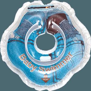 Круг BabySwimmer для детей от 0-24 месяцев и 3-12 кг, Джинса