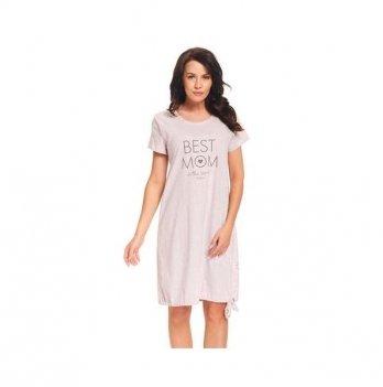 Ночная рубашка для беременных и кормящих мам Dobranocka, 9081 pink grey