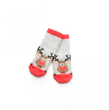 Носки махровые Модный карапуз Олени серый 101-00849