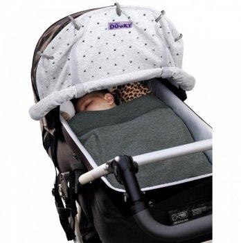 Защитная накидка на коляску и автокресло Dooky Design Cover - Light Grey Crowns