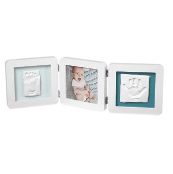 Фоторамка с набором для создания отпечатков Baby Art тройная, белая